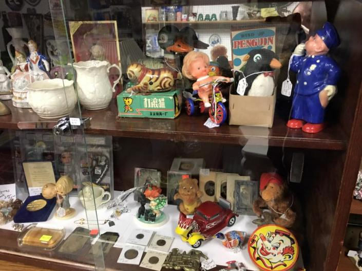 We have a huge selection of antique toys that are waiting for a new home, everything from vintage dolls to primitive yoyos!