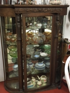 Antique Curio Gothic Style China Cabinet