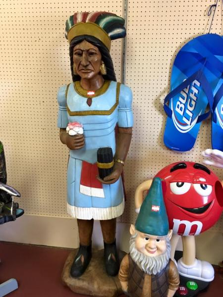 [Image: From kids to adults, Marketplace Antiques will have something you are looking for like this funny gnome to the red M&M!]